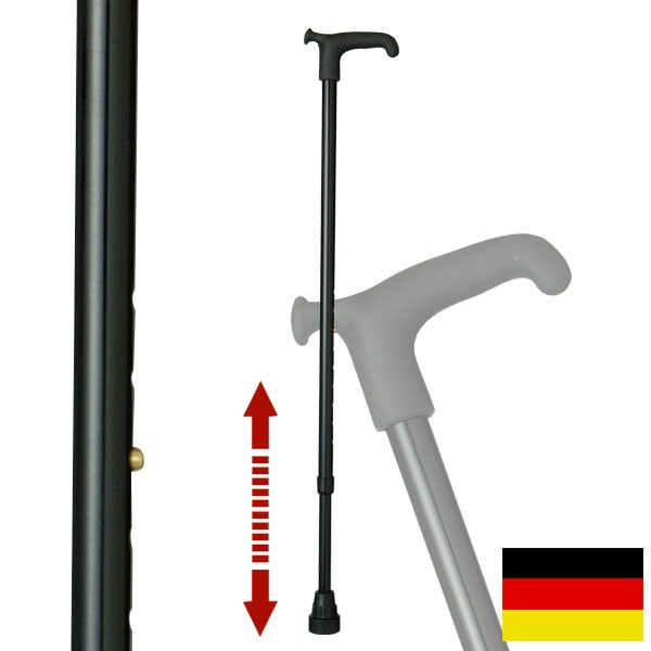 杖 ステッキ ドイツ製リハビリ用ステッキ(ブラック)O…