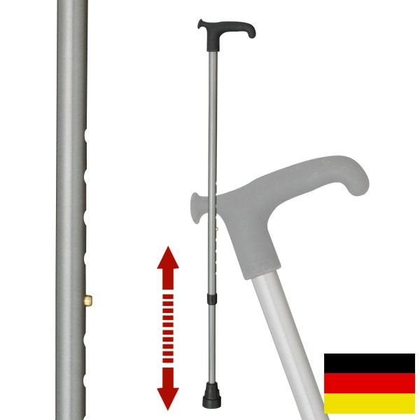 杖 ステッキ ドイツ製リハビリ用ステッキ(メタリック…