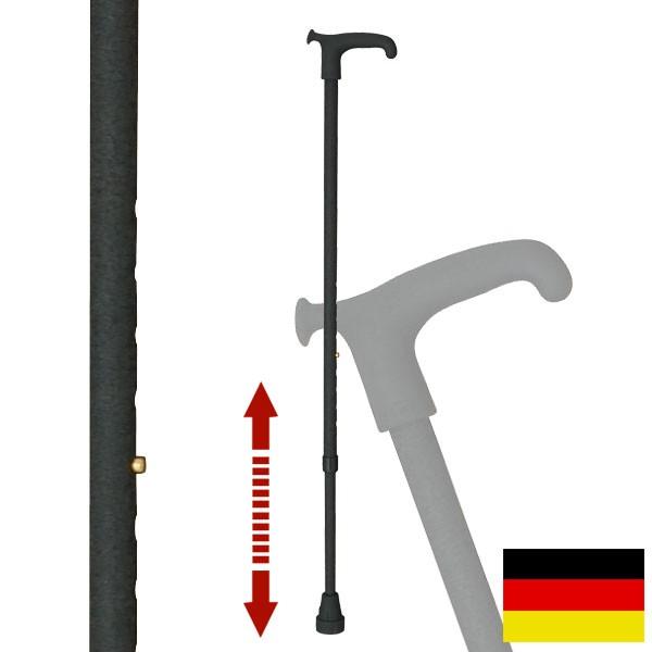 杖 ステッキ ドイツ製リハビリ用ステッキ(レザーブラ…