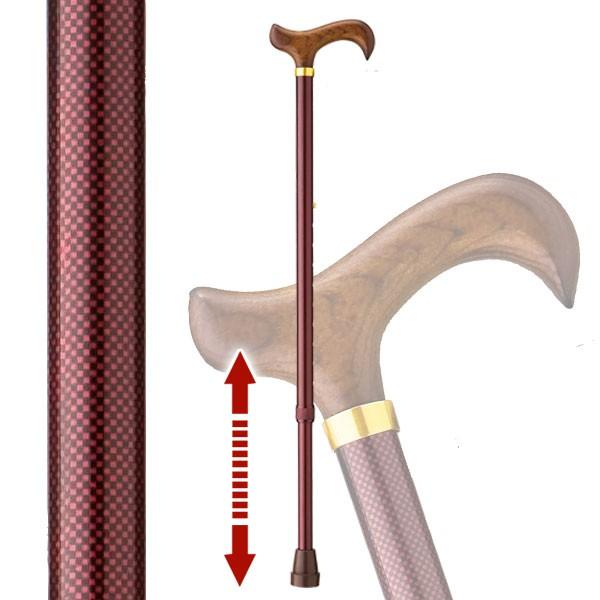 杖 伸縮 軽量 伸縮杖 太い杖 安定した杖 愛杖 ストラッ…