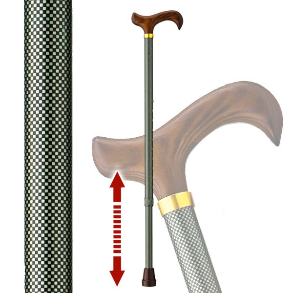 伸縮杖 太い杖 安定した杖 愛杖 太杖 E-63