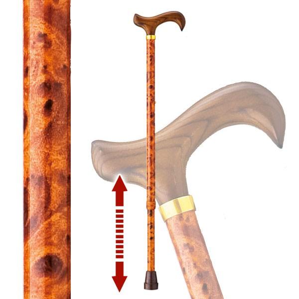 伸縮杖 太い杖 安定した杖 愛杖 太杖 E-64