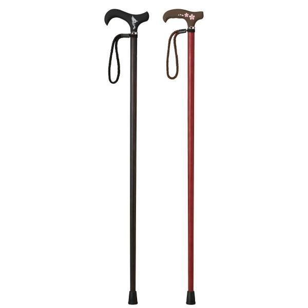 杖 一本杖 軽量 カーボン 愛杖 C-201 黒壇巻き ストラ…