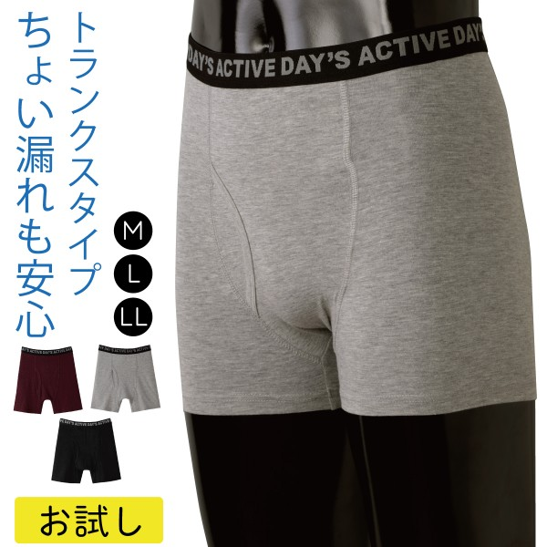 失禁パンツ 男性用 トランクス 尿漏れパンツ バレない …