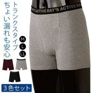 失禁パンツ 男性用 トランクス 軽失禁 日本製 バレない…