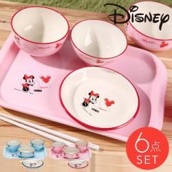 ディズニー 食器セット ベビー食器セット  日本製  お食い初め 出産祝い 割れない ミッキー ミニー お食い初め6点セット 全2種類