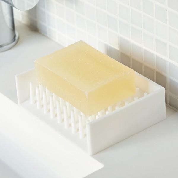 石鹸置き 水切りソープトレイ ミスト ホワイト 02991