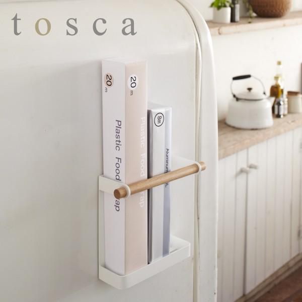 ラップホルダー マグネット 冷蔵庫 ラップ ホルダー トスカ tosca ホワイト 07825