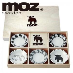 moz エルク 食器セット 北欧デザイン 小皿5枚セット木…