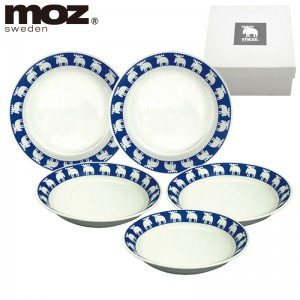 moz エルク  食器セット北欧デザイン カレー皿5Pセット…