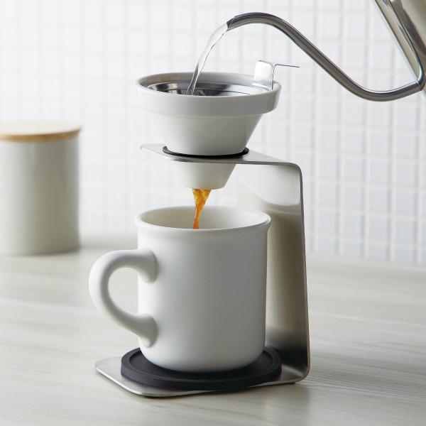 コーヒードリッパー セット コーヒーメーカー ハンドドリップ ブリューコーヒー 一人用ドリッパーセット ホワイト 51641 コーヒーグッズ特集