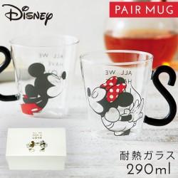 ディズニー マグカップ ペア 耐熱ガラス 耐熱グラス 結婚祝い 耐熱ペアマグ ミッキー ミニー セット おしゃれ 色が変わる 敬老の日