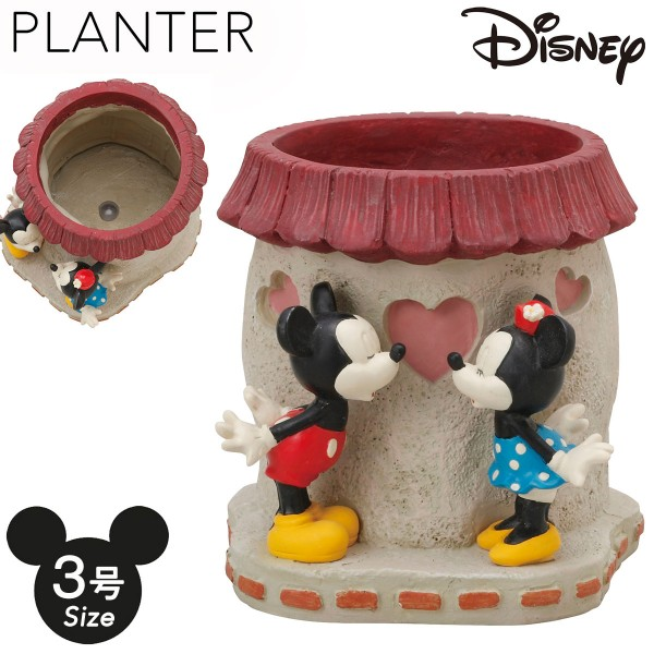 プランター 植木鉢 3号 ディズニー ミッキー&ミニ…