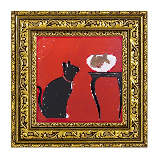 絵画 インテリア 猫 額入り 玄関 ドミンゲス スパイ(S…