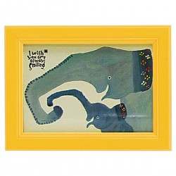 アート 動物 アニマル インテリア 子供部屋 壁掛け ミニアート 武内祐人 ゾウの親子