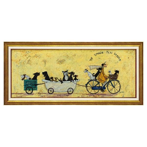 アートパネル アートフレーム 壁掛け サムトフト おしゃれ 絵画 絵 アートボード インテリア イギリス作家 いぬタクシー アートボード 新築祝い 玄関 モダン ほっこり 癒し 大きい 大型サイズ 犬 イヌ いぬ ドッグ