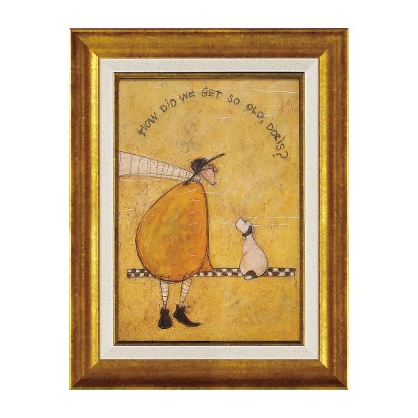 アートパネル アートフレーム 壁掛け サムトフト おしゃれ 絵画 絵 アートボード インテリア イギリス作家 ゲット オールド ドリス ST-05823 アートボード 新築祝い 玄関 モダン ほっこり 癒し 犬 イヌ いぬ ドッグ