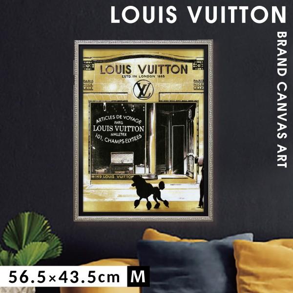アートパネル ブランドオマージュアート ルイヴィトン LOUIS VUITTON インテリア オマージュキャンバスアート パリストロール2 Mサイズ マドレーヌ ブレイク 新生活 店舗 模様替え おしゃれ 絵画 引越し フレームアート