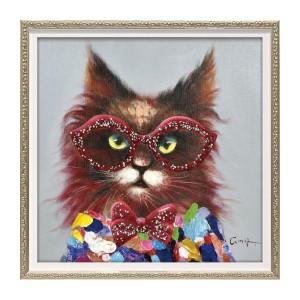アートパネル 絵 猫 動物 アート 油絵 インテリア オイ…