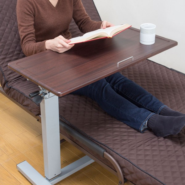 サイドテーブル 昇降 ベッド ソファー 天板の角度が変…