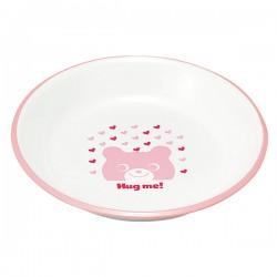 皿 お皿 プレート 子供用 キッズ 食洗機対応 食洗器対応 レンジ対応 山中塗 レンジスナックプレート クマ Y15114-5