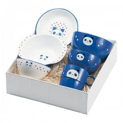出産祝い 食器セット 子供用 キッズ 食洗機対応 食洗器対応 レンジ対応 山中塗 ハグミー6点セット パンダ Y15241-8 グッズ