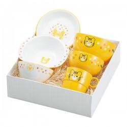 出産祝い 食器セット 子供用 キッズ 食洗機対応 食洗器対応 レンジ対応 山中塗 ハグミー6点セット トラ Y15242-5