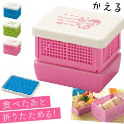 サンドイッチケース ランチボックス 折りたたみ 日本製 かわいい お弁当箱 ランチボックス 組立式 コンパクト サンドイッチ&デザートランチ かさかえる クリスマス