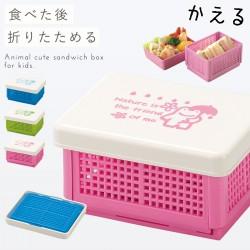 サンドイッチケース ランチボックス 折りたたみ 日本製 かわいい お弁当箱 ランチボックス 組立式 コンパクト サンドイッチ バスケットランチ かさかえる クリスマス
