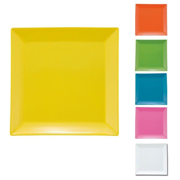 プレート 皿 四角 割れない プラスチック 日本製 電子レンジ対応 食洗機対応 食洗器対応 スクエアプレート M アウトドア キャンプ ピクニック おしゃれ 人気
