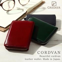 ラウンド小銭入れ 松阪レザー 牛革 バンビ GREDEER コードバン GCKC107 メンズファッション