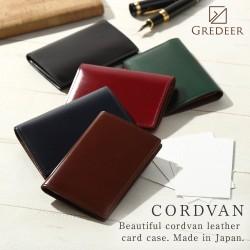 名刺入れ 松阪レザー 牛革 バンビ GREDEER コードバン GCKC108 メンズファッション