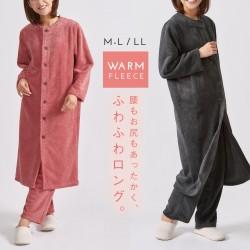 パジャマ ルームウェア レディース モコモコ あったか ロング丈 あったか ピンク ふわふわ暖かロングパジャマ レディースファッション