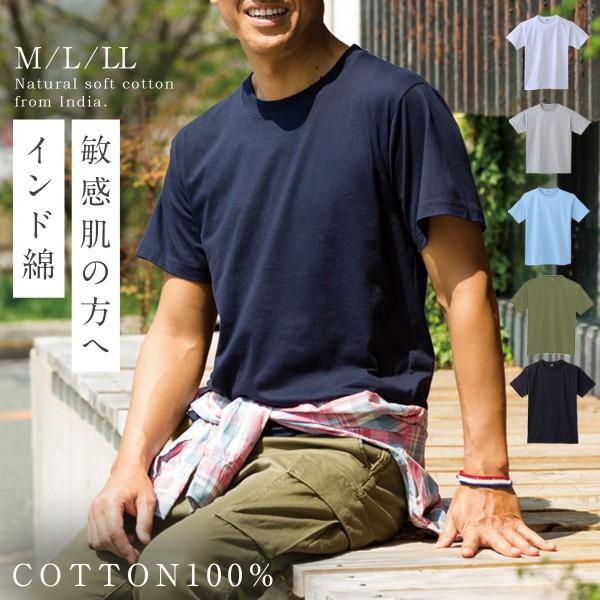 インド綿 100% tシャツ 半袖 ボーダー メンズ M L LL …