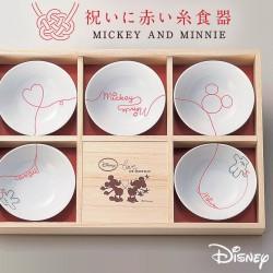 食器セット 小皿 小鉢  ディズニー ミッキー LOD 電子レンジ対応 小鉢揃 木箱入 3180-01