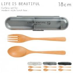 スプーン フォーク お弁当箱用  カトラリーセット 箸 スプーン アーバンスタイル 木製カトラリーセットL 全3色