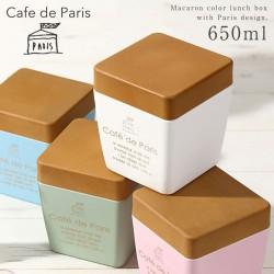 お弁当箱 2段 ランチボックス レンジ対応 食洗機対応 PARIS 木目BCランチトール cafe de Paris クリスマス