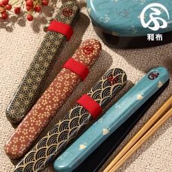 箸箱セット 箸箱ケース 弁当用 おしゃれ 和風 和布 18.0布貼箸箱セット