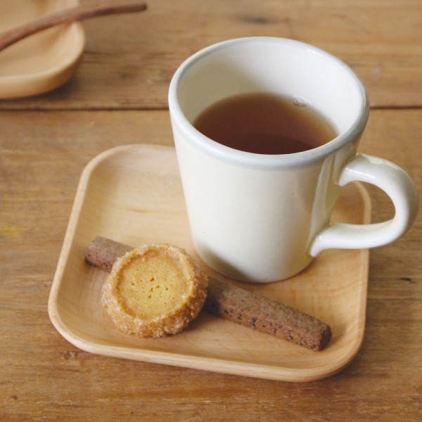 コースター 木製 ソーサー おしゃれ コーヒーソーサー ブナ 角 3V35-4