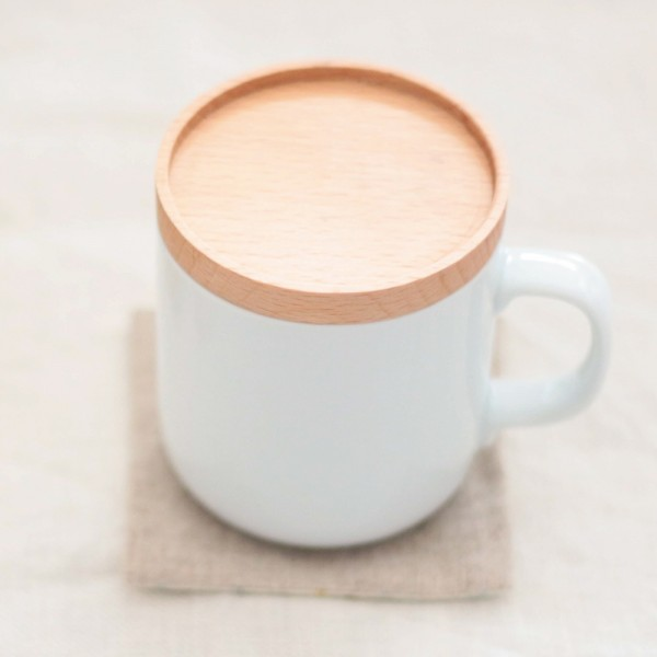カップカバー 木製 ウッド マグカップ ふた カフエ風 …
