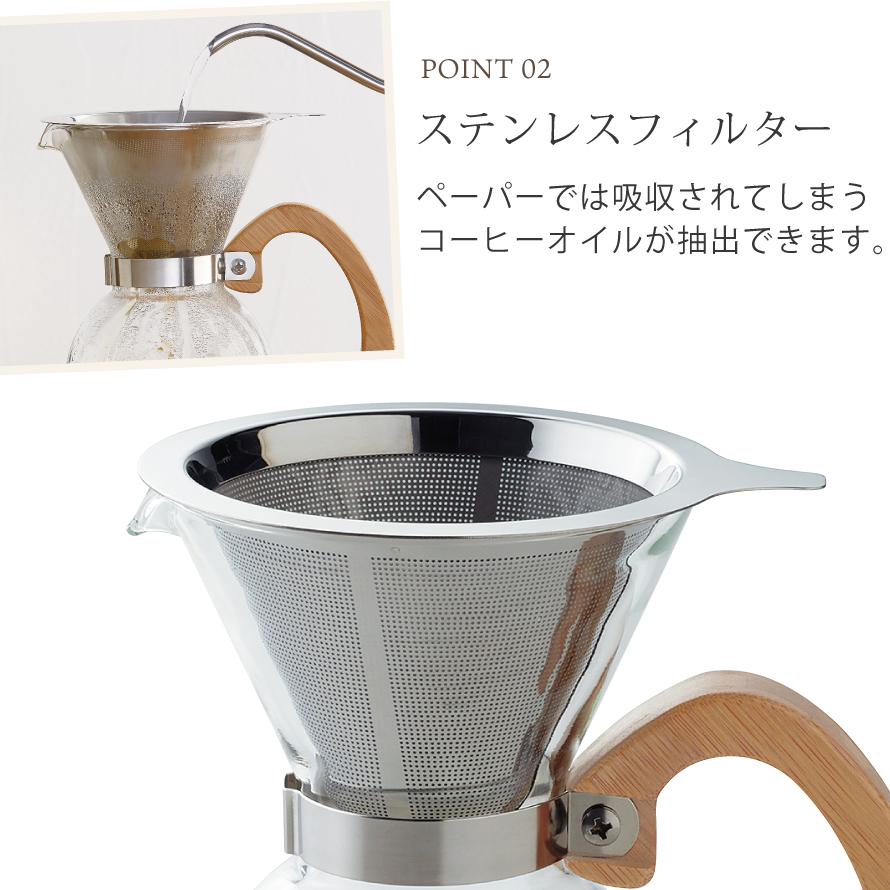 コーヒードリッパー セット コーヒーメーカー ブリューコーヒー 耐熱ドリッパーセット 400ml 51640 コーヒーグッズ特集